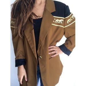 Vintage 80's Bloomingdales wool cheetah blazer XL